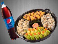 Sushi Familiar Green Dragon + Gaseosa
