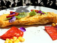 Omelette Chorizo y Maíz