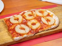 Porción de pizza común con un gusto