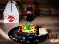 Lasagna de Pollo + Coca-Cola