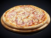 Pizzeta con panceta y cebolla