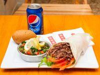 Combo 4 - Shawama + 2 falafel + homus + tabule + gaseosa en lata