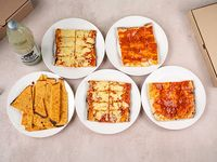 Promo 3 - 2 porciones de pizza + 2 porciones de pizza muzzarella + 2 porciones de fainá + Pepsi 1.25 L