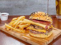 Hamburguesa doble con queso