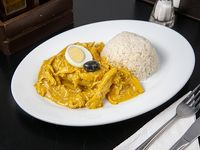 Aji de gallina + bebida de 250ml