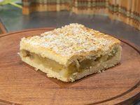 Porción de torta de manzana