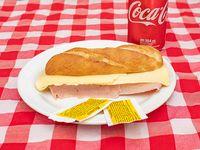Promo - Panini de jamón y queso + refresco Coca Cola 354 ml