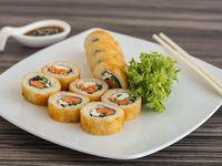 Tempura sake cheese