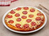 Pizzeta con muzzarella y pepperoni