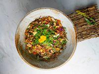 Arroz con pato al wok