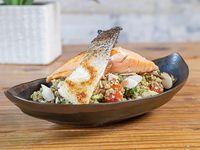 Cous cous salmon salad