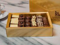 Bombones suizos surtidos caja dorada y bolsa de regalo 500 gr