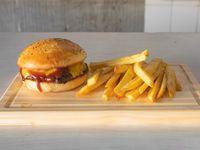 Promo 5 - Hamburguesa clásica + papas fritas