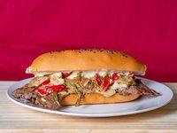Sandwich Lomo con champiñones