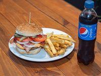 Promo 2 - Hamburguesa Tabasco BIG + papas fritas + Pepsi de 500 ml