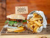 Veggie Burger con guarnición