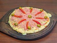 Pizza con jamón 8 porciones