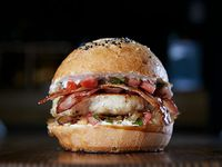 Pollo criollo burger