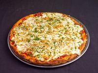 Pizza con muzzarella y ajo