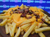 Papas fritas con cheddar (porción)