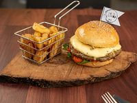 Hamburguesa La Vege-lente + fritas