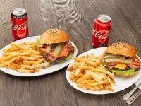 Promo - La pareja de hamburguesa tradicional 2 combos XL