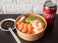 Gohan camarón y salmón