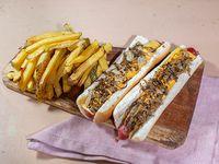 Combo - 2 Hot dogs + Papas fritas