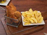 Fingers de pollo xl -5 unidades- con papas fritas