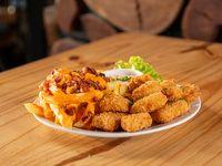 Nuggets con papas fritas (12 unidades)