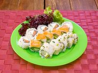 Combo mix de salmón y langostinos - 15 piezas