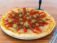 Pizza con morrones (8 porciones)