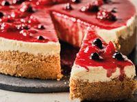 Porción de Cheesecake de Frutos Rojos