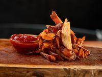 Bastones de papas y boniatos fritos (porción)