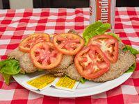 Promo - Sándwich de milanesa con lechuga y tomate + cerveza Schneider en lata 473 ml