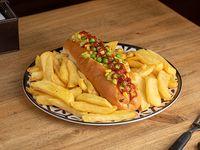 Pancho dogo XL + papas fritas