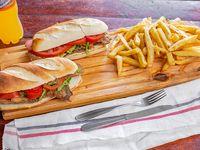 Promo 2x1 - Sándwich de milanesa chico con papas fritas más bebida