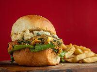 Burger Vintage veggie con papas