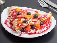 Crepe con frutas y yogurt