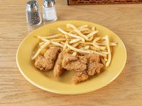 Crispy chicken strips & fries