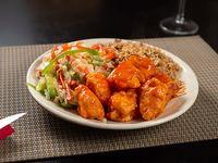 Combo 2 - arroz chao fan + chop suey + pollo agridulce