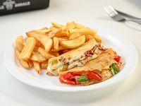 Promo 5 - 2 quesadillas + papas fritas + refrescoopcional