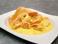 Palmitos de Cangrejo al Curry