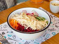 Poke bowl con pollo