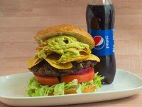Combo Hamburguesa Mexicana + Gaseosa 400 ml