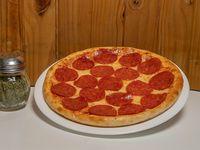 Pizza con pepperoni (4 porciones 23 cm)