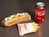 Combo - As churrasco italiano + bebida 350 ml + papas fritas individuales