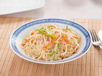 Fideos chinos vegetarianos (plato grande)