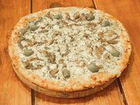 Pizza con champignones y roquefort grande