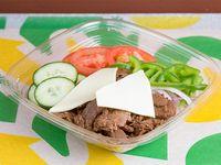 Ensalada Subway de carne y queso